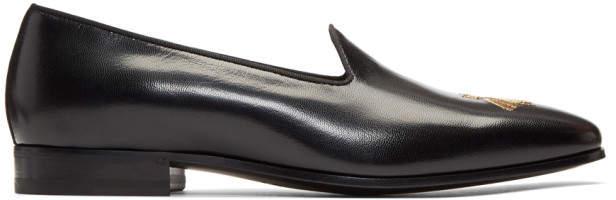 Gucci Black Bee Gallipoli Loafers