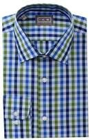 Ike Behar Tatersall Regular Fit Dress Shirt