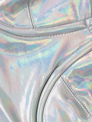 Norma Kamali Metallic Underwire Bikini Top