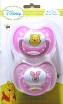 Winnie The Pooh 2pk Print Pacifiers (Color May Vary) by
