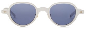 Jacques Marie Mage Clark Round Acetate Sunglasses - White