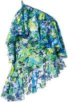 Marques Almeida Marques'almeida - floral print lace one-shoulder top - women - Silk/Polyester/Polyurethane - S