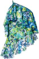 Marques Almeida Marques'almeida floral print lace one-shoulder top