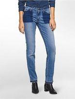 Calvin Klein Womens Straight Leg Hoxton Wash Jeans