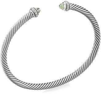 David Yurman 4mm Cable Bracelet with Diamonds & Semiprecious Stones