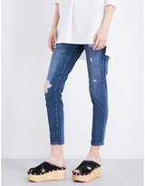 Current/Elliott The Easy Stiletto distressed skinny mid-rise jeans