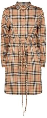 Burberry Vintage Check Drawstring Shirt Dress