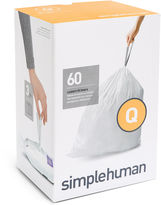Simplehuman Custom-Fit Trash Can Liners Code Q - 60-pack