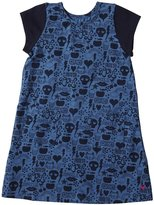 Pink Chicken Emily Dress (Toddler/Kid) - Blue Omg Print-4 Years