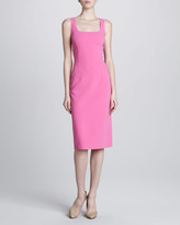 Michael Kors Square-Neck Sheath Dress, Tulip