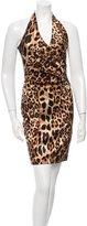 David Meister Embellished Cheetah Dress w/ Tags