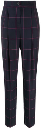 Emporio Armani Checked Tailored Trousers