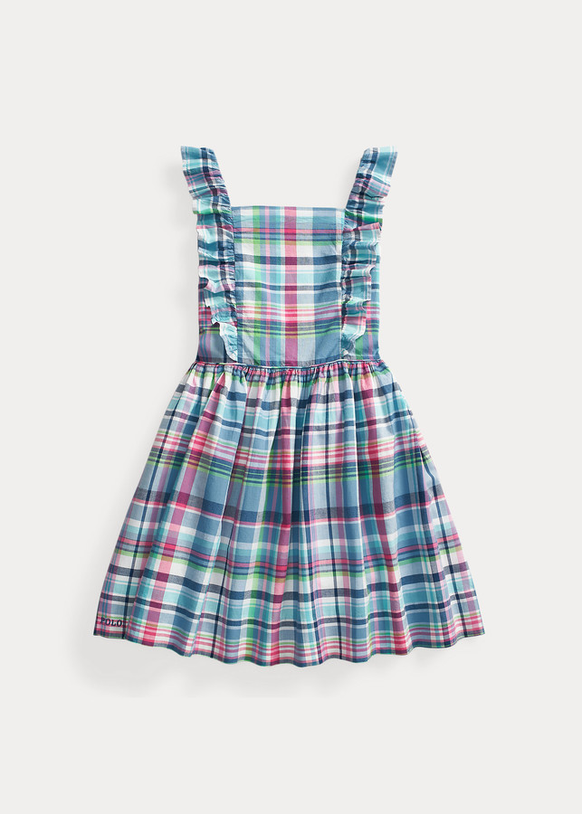 Ralph Lauren Ruffled Cotton Madras Dress