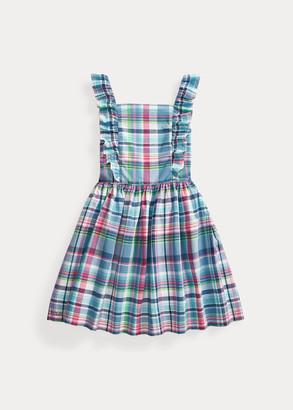 Ralph Lauren Ruffled Cotton Madras Dress