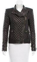 Balmain Leather Quilted Jacket