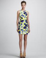 Milly Floral-Print Peplum Dress