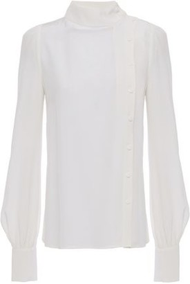 Goat Ilesia Gathered Silk Crepe De Chine Blouse