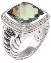 David Yurman Women's Vintage Sterling Silver, Prasiolite & 0.37 Total Ct. Diamond Albion Ring