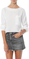 Bella Dahl Raw Edge Pocket Shirt