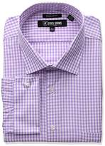 Stacy Adams Men's Big and Tall Gingham Check Dress Shirt