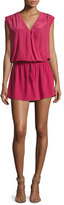 Joie Aniya Sleeveless Silk Mini Dress, Red