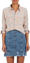 NSF Women's Kimberly Distressed Cotton Flannel Shirt