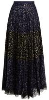 Saloni Karen pleated-lace skirt