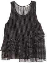 H&M Sleeveless Chiffon Blouse - Black - Ladies