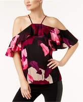 Trina Turk Olan Printed Cold-Shoulder Top
