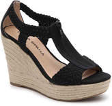 Moda Spana Women's Whitney Wedge Sandal -Black