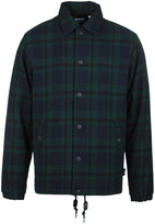 Edwin Navy & Green Tartan Coach Jacket