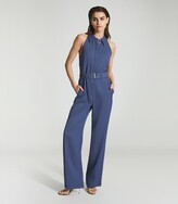 Thumbnail for your product : Reiss Petra - Wide Leg Jumpsuit in Blue