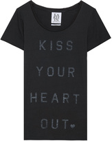 Zoe Karssen Exclusive Kiss Your Heart Out Print T-Shirt