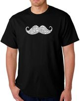 Men's Word Art Ways to Style a Mustache T-Shirt in Black