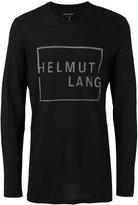 Helmut Lang logo print T-shirt - men - Cotton - S