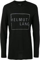 Helmut Lang logo print T-shirt