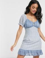 Moon River polkadot mini dress