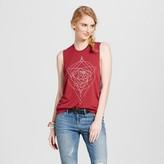 Fifth Sun Women's Geometric Rose Graphic Tank Burgundy Juniors')