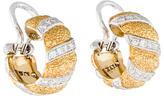 Buccellati Diamond Two-Tone Hoop Earrings w/ Tags