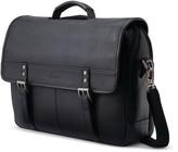 Samsonite Flapover Leather Messenger Bag