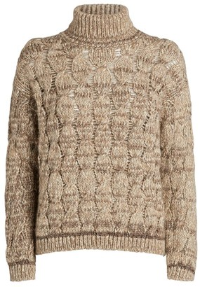 Piazza Sempione Cable-Knit Rollneck Sweater