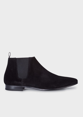 Paul Smith Men's Black Suede 'Marlowe' Chelsea Boots