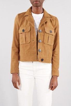 Selected LIGHT TAN STORAY 70 S SUEDE JACKET - 34