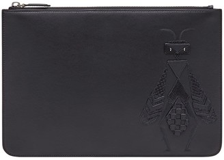 Fendi Embroidered Slim Pouch