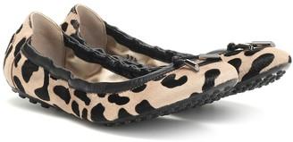 Tod's Exclusive to Mytheresa a Leopard-print calf hair ballet flats