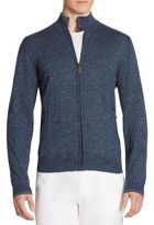 Saks Fifth Avenue COLLECTION Tweed Zip-Front Cardigan