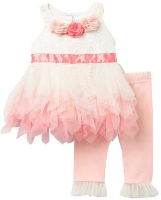 Nicole Miller Floral 2-Piece Legging Set (Baby Girls 12-24M)