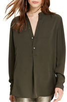 Polo Ralph Lauren Sheer-Yoke Silk Shirt