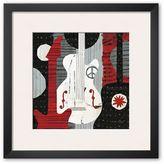 "Art.com Rock 'n Roll Guitars"" Framed Art Print by Michael Mullan"