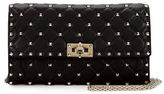 Valentino Rockstud Small Quilted Leather Wallet-on-Chain
